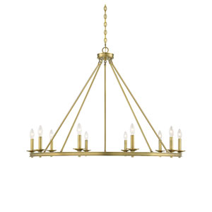 Elle Warm Brass 45-Inch 10-Inch Chandelier