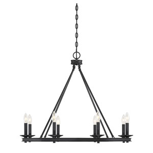Elle Classic Bronze 33-Inch Eight-Light Chandelier