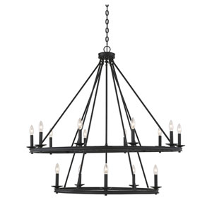 Elle Matte Black 45-Inch 15-Light Chandelier