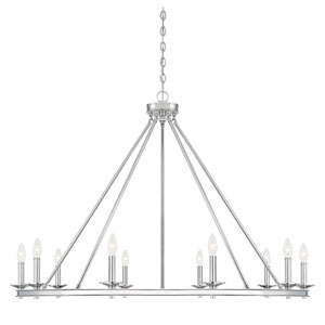 Elle Polished Nickel 45-Inch 10-Inch Chandelier