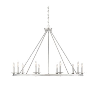 Elle Brushed Nickel 45-Inch 10-Inch Chandelier