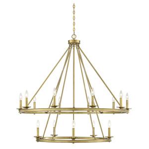 Elle Polished Brass 45-Inch 15-Light Chandelier