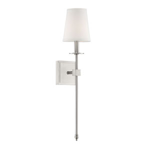 Linden Brushed Nickel 24-Inch One-Light Wall Sconce