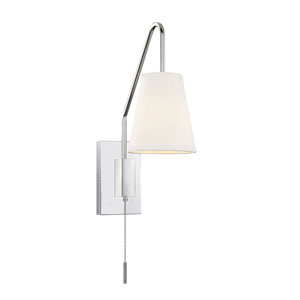 Ava Polished Nickel Six-Inch One-Light Wall Sconce