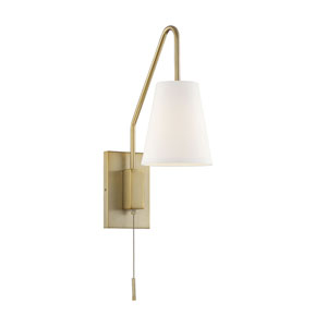 Ava Polished Brass Six-Inch One-Light Wall Sconce