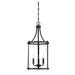 Anita Black 12-Inch Three-Light Pendant