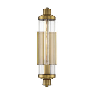 Essex Polished Brass Five-Inch One-Light Wall Sconce