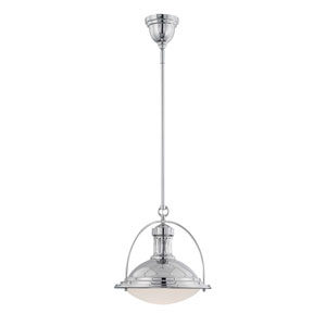 Howe Polished Nickel 13-Inch One-Light Pendant