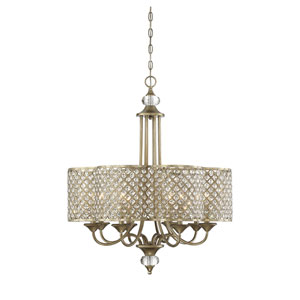 Leighton Gold 28-Inch Eight-Light Chandelier