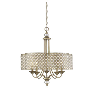 Leighton Gold 25-Inch Five-Light Chandelier