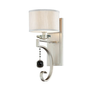 Eden Silver Seven-Inch One-Light Wall Sconce