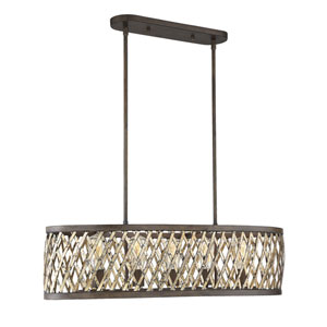 Hana Fiesta Bronze 17-Inch Five-Light Pendant