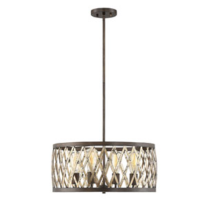 Hana Fiesta Bronze 20-Inch Four-Light Pendant