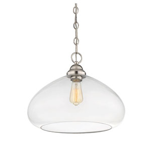 Nora Polished Nickel 16-Inch One-Light Pendant