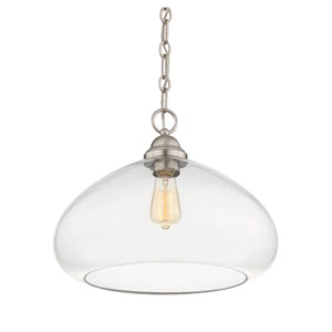 Nora Brushed Nickel 16-Inch One-Light Pendant
