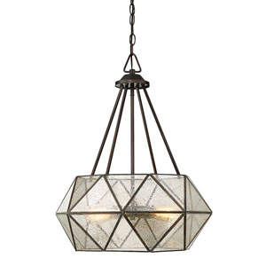 Uptown Oiled Burnished Bronze 20-Inch Four-Light Pendant