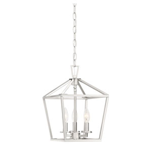 Anna Brushed Nickel 10-Inch Three-Light Pendant