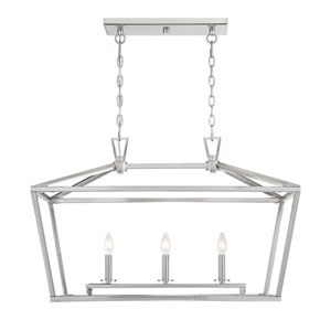 Anna Brushed Nickel 16-Inch Three-Light Pendant