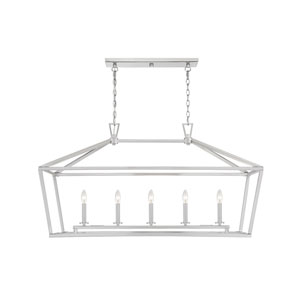 Anna Brushed Nickel 16-Inch Five-Light Pendant