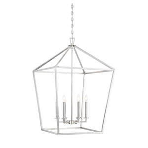 Anna Brushed Nickel 24-Inch Six-Light Pendant
