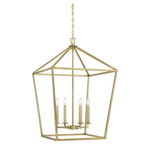 Anna Polished Brass 24-Inch Six-Light Pendant