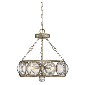 Eloise Brittania Gold 18-Inch Three-Light Semi Flushmount