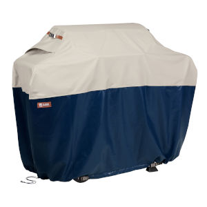 Aspen Fog and Navy 64-Inch Patio BBQ Grill Cover