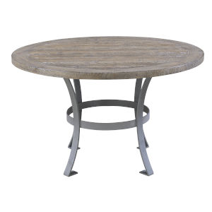Selby Sandstone 54-Inch Round Dining Table with Top and Metal Base