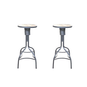 Fulton Patina Gray and Rustic Fir 30-Inch Adjustable Bar Stool, Set of Two