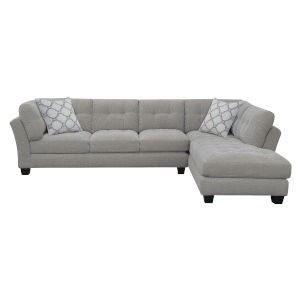 Cooper Dove Gray Sectional Sofa with Pillow