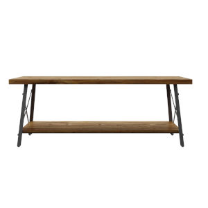 Fulton Natural Fir and Steel Gray 45-Inch Coffee Table