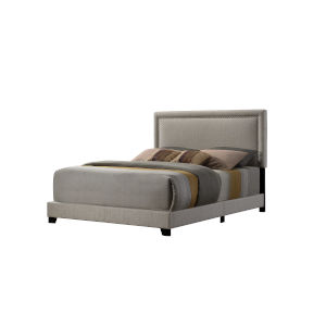 Linden Beige Queen Upholstered Bed