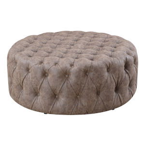 Monroe Sophisticated Coffee Ottoman with Diamond-Stitched Button Tufting