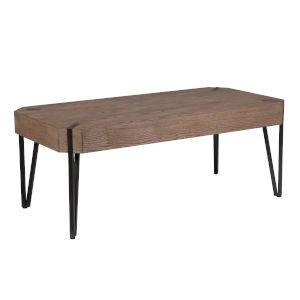 Fulton Walnut Brown and Black 46-Inch Coffee Table