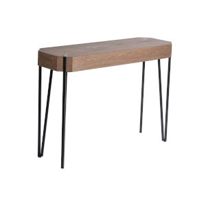 Fulton Walnut Brown and Black 42-Inch Sofa Table