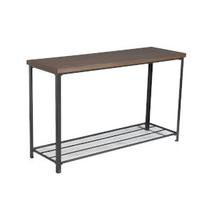 Afton Dark Brown and Black 47-Inch Sofa Table