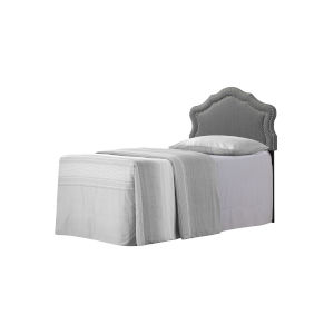 Vivian Soft Charcoal Twin Upholstered Headboard