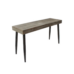 River Station Chesapeake Gray and Dark Metal 52-Inch Sofa Table