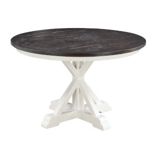 Quinn Dark Brown and White 54-Inch Dining Table