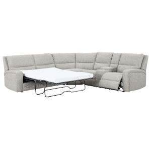 Linden Driftwood Sectional with Fold-Out Sleeper, Reclining Seat