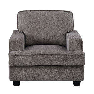 Linden Ink Accent Chair with Loose Back Cushions