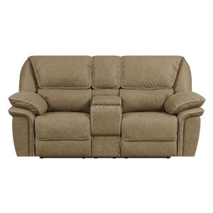 Selby Desert Sand Power Reclining Loveseat USB Charging Station