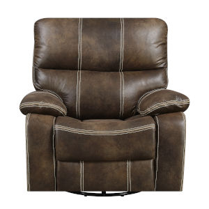 Selby Chocolate Brown Swivel Reclining Glider