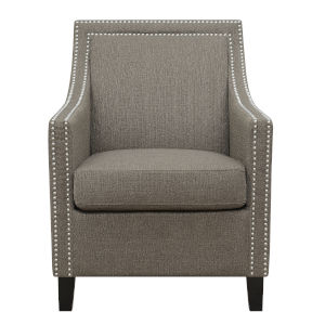 Cooper Brown Accent Chair with Padded Back