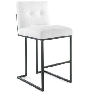 Uptown Black and White Bar Stool