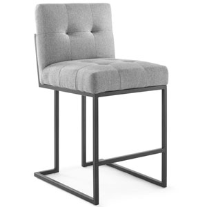 Uptown Black and Gray Counter Stool