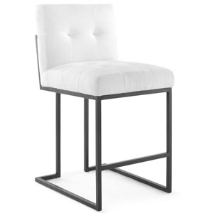 Uptown Black and White Counter Stool