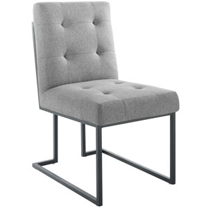Uptown Black and Gray Dining Chair