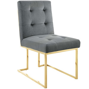 Cooper Gold and Charcoal Dining Chair