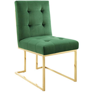 Cooper Gold and Green Dining Chair